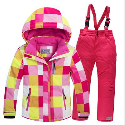76227f875 Outdoor-Girls-Boys-Kids-Ski-Suits-Snowboard-Snow-Jacket-amp-pants-Set- Clothes