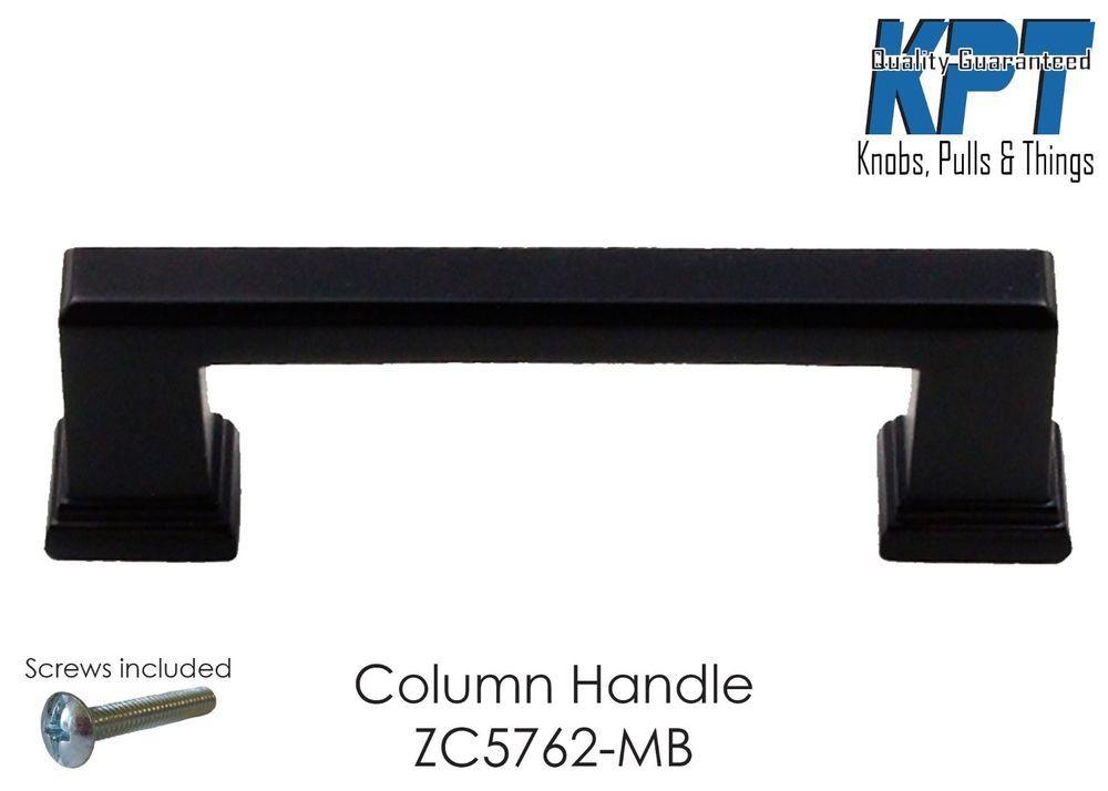 Knob Handle Pulls Collection in Matte Black Kitchen//Bath Cabinet Hardware by KPT