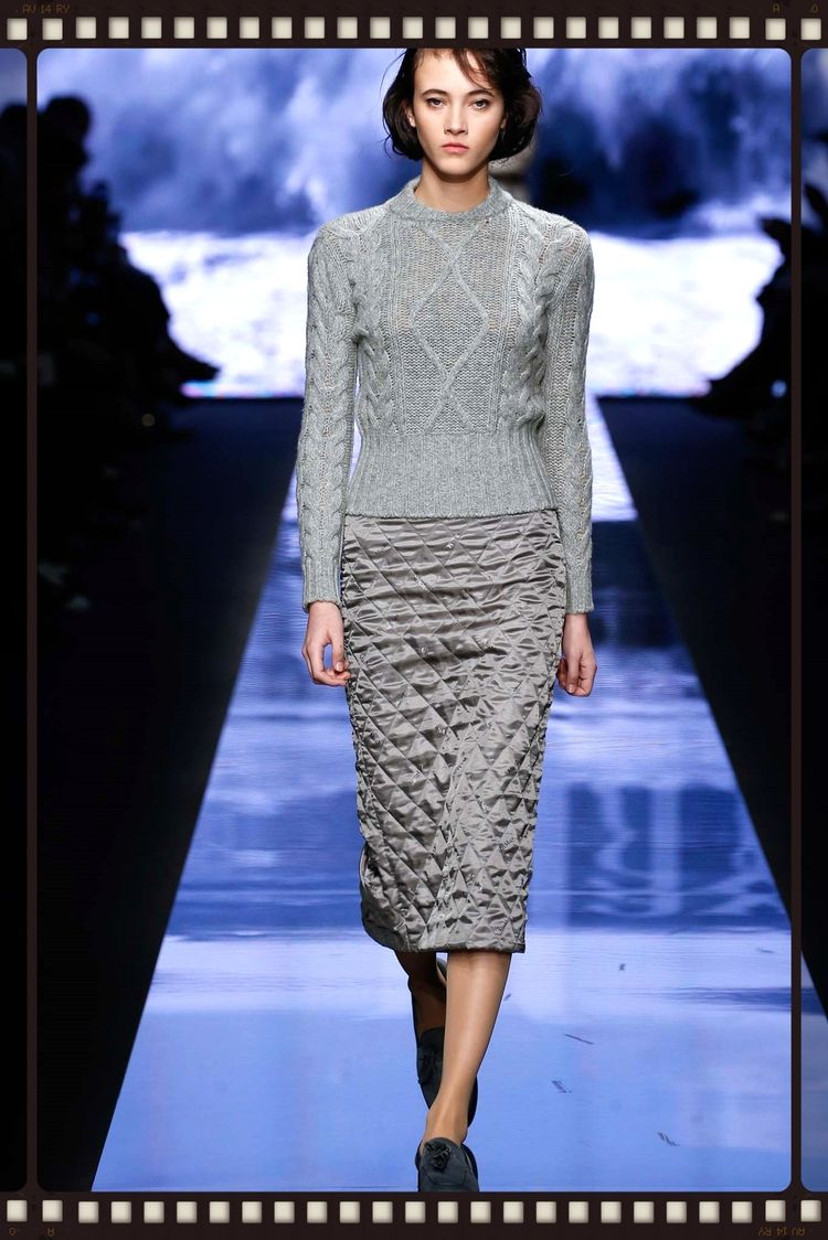 INSPIRED DESIGN Max Mara proves that sometimes the success of a knit is all in what you pair it with