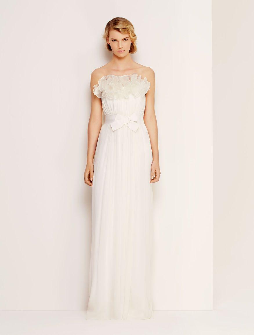 fashion style negozio ufficiale godere di un prezzo economico Abito da sposa Fucsia, abito bustier lungo in georgette di ...