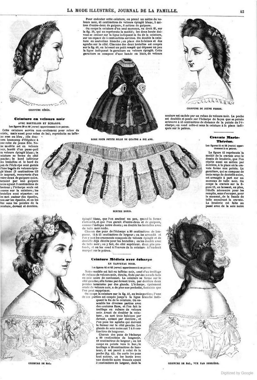 La Mode illustrée Acconciature In Stile Vittoriano 913fb46cb524