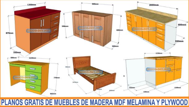Planos en pdf gratis con medidas para hacer muebles de for Programa para disenar muebles gratis