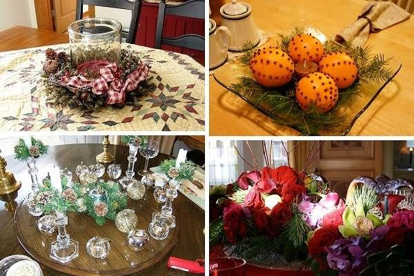 homemade christmas table decorations ideas diy pictures pinterest