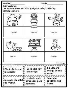 Comprensión De Lectura Para Principiantes Distance Learning Packet Spanish Lessons For Kids First Grade Reading Comprehension Dual Language Classroom