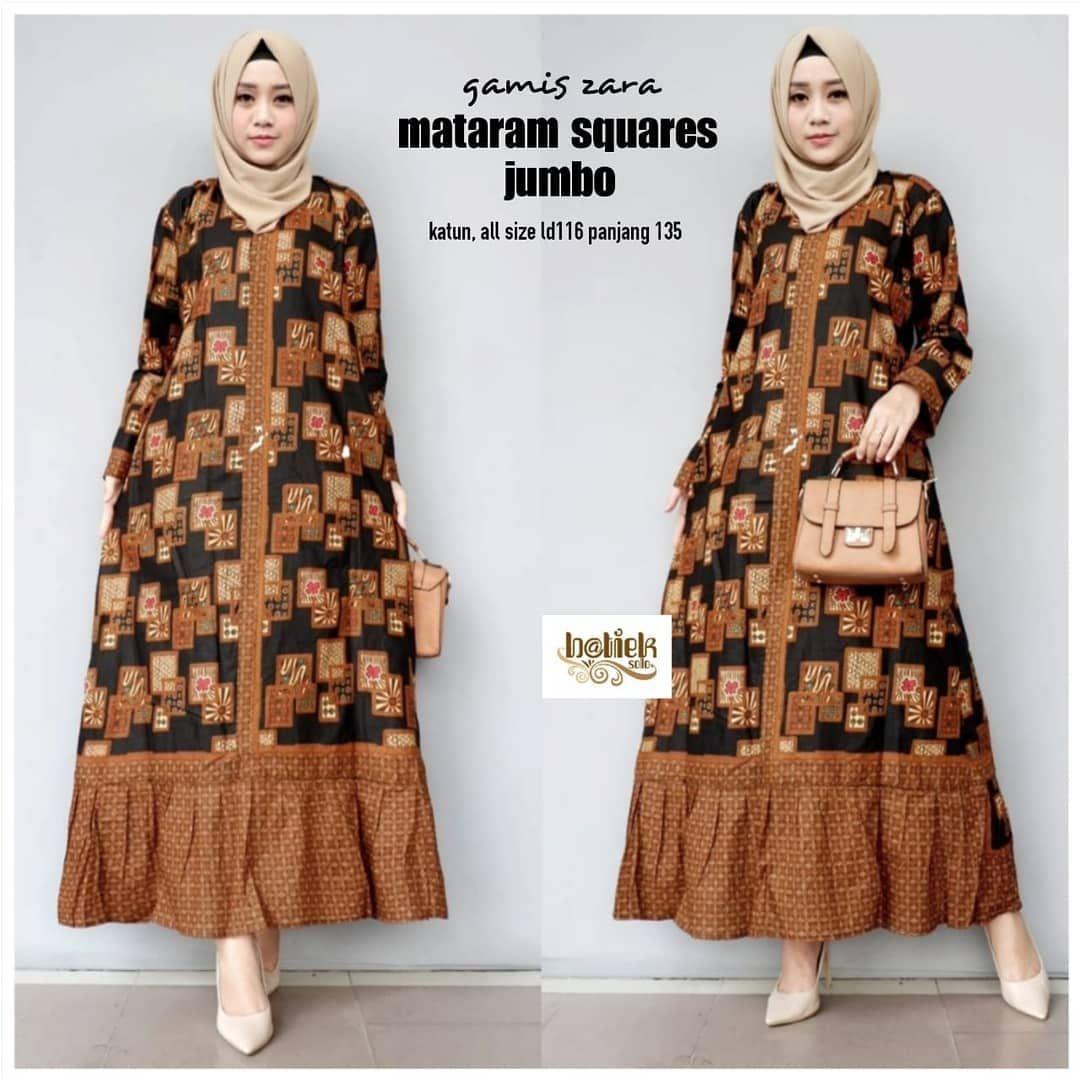 Desain Gaun Batik Muslimah Modern  Model pakaian wanita, Model