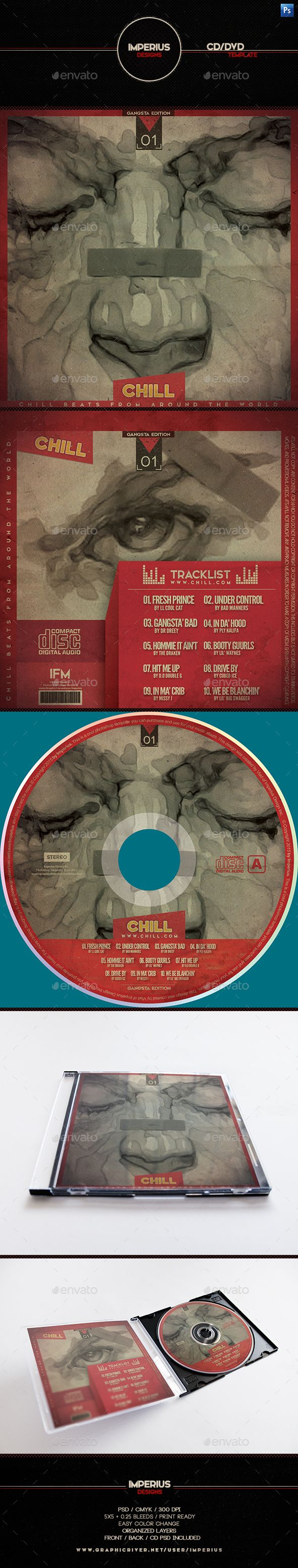 chill cd dvd cover cover template cd cover template and font logo