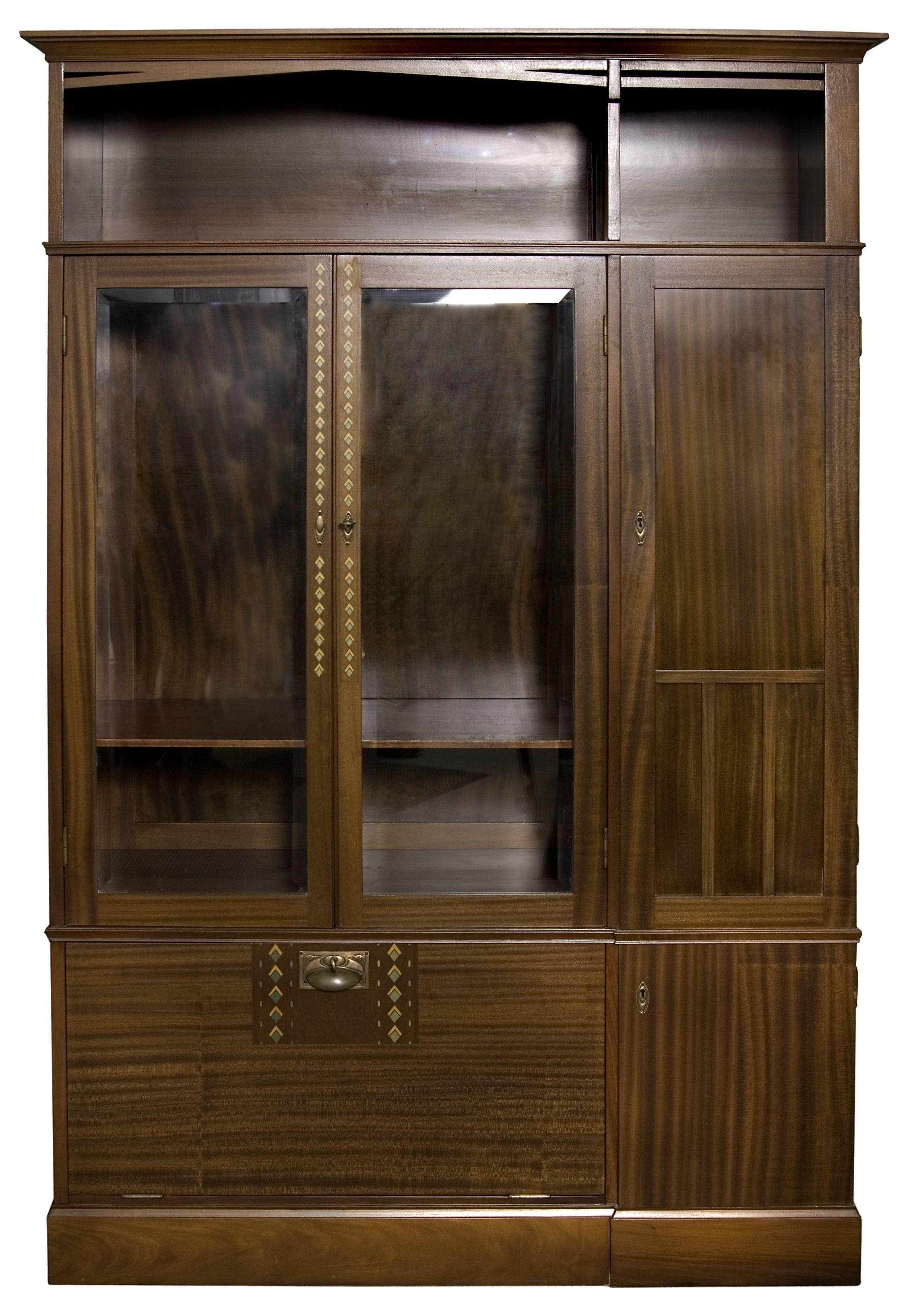 Möbelgeschäft Darmstadt joseph olbrich bookcase c 1904 manufactured by julius
