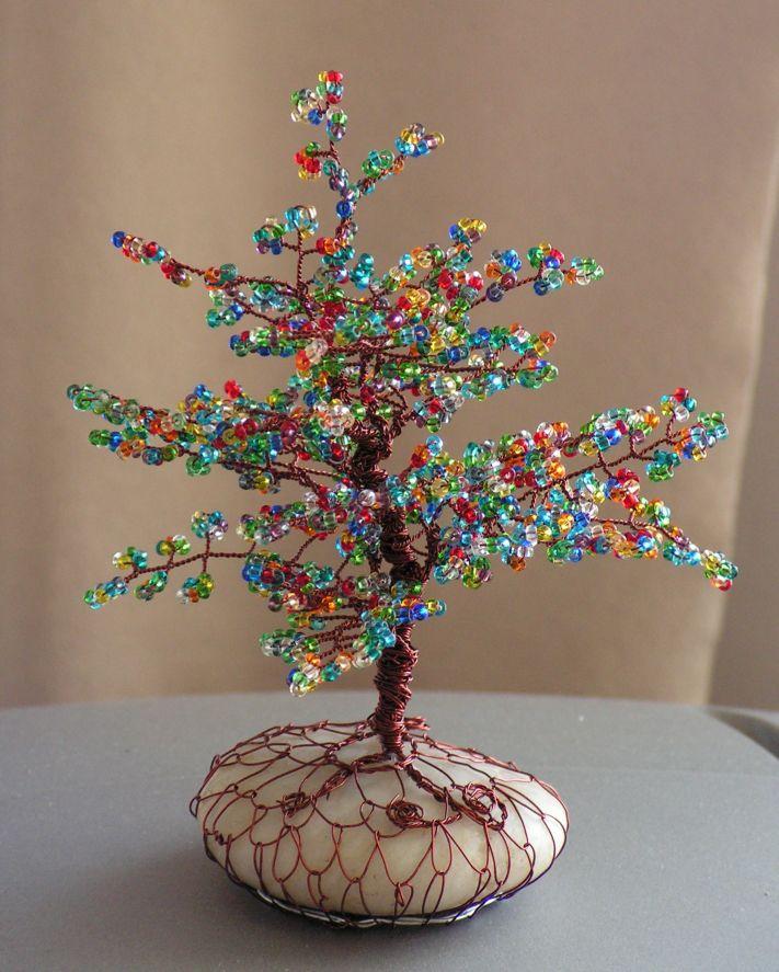 korálkové stromečky - Hledat Googlem | Wire Trees | Pinterest ...