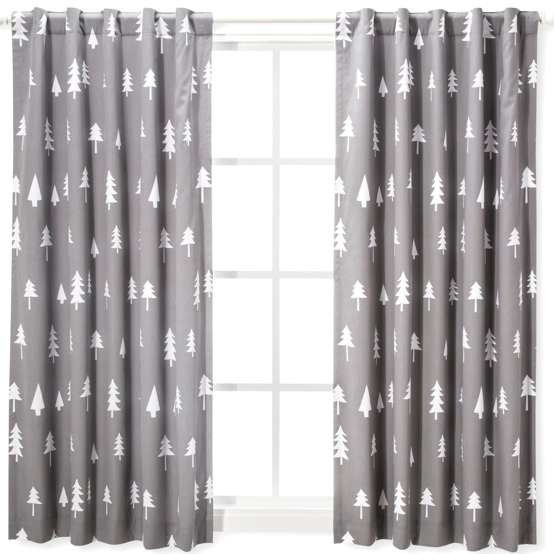 Blackout Curtain Panel Trees 42x 63 Cloud Island Gray Size 42x63 In 2020 Panel Curtains Blackout Curtains Everyday Essentials Products