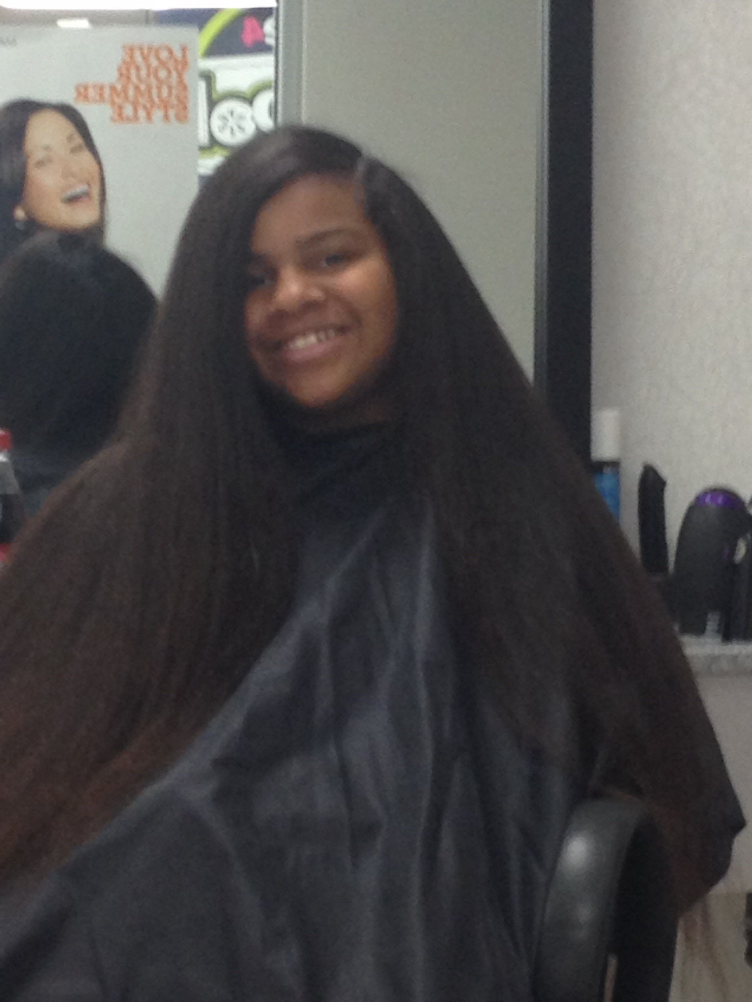 Natural Hair Blow Dried And Flat Ironed Shared By Deneen Natural Hair Styles Beautiful Natural Hair Hair Shrinkage
