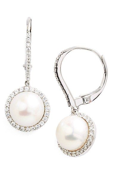 Lafonn Laire Pearl Drop Earrings Available At Nordstrom