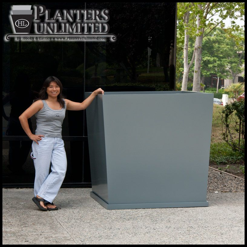Awesome Extra Large Outdoor Planters Part - 5: Traditional And Modern Large Commercial Fiberglass Planters In Many Sizes  And Shapes. Oversized Square Planters For Outdoors Or For Indoor Use.