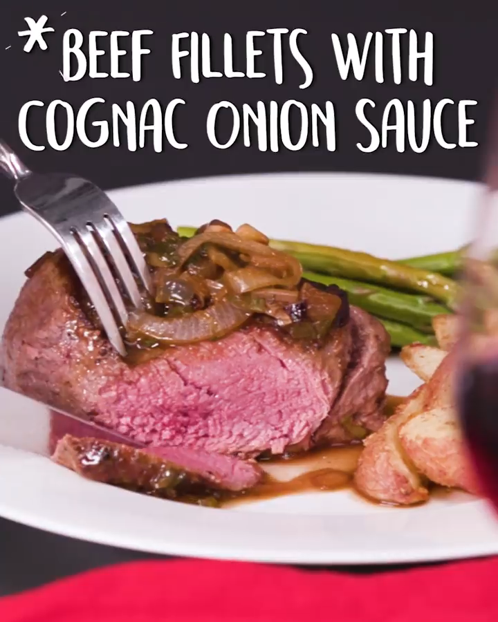 Photo of Beef Fillets With Cognac Onion Sauce