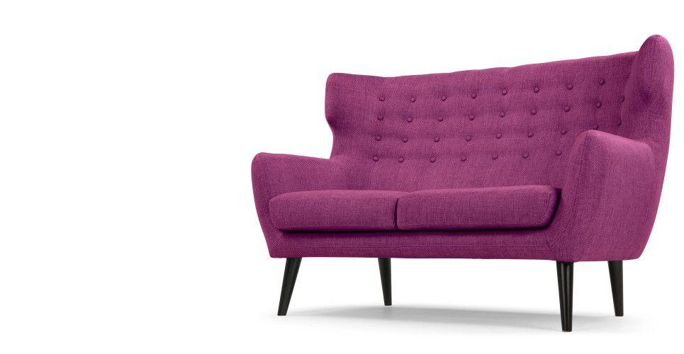 Kubrick 2 Seater Sofa Plum Purple Sofa 2 Sitzer Sofa Sofa Sessel