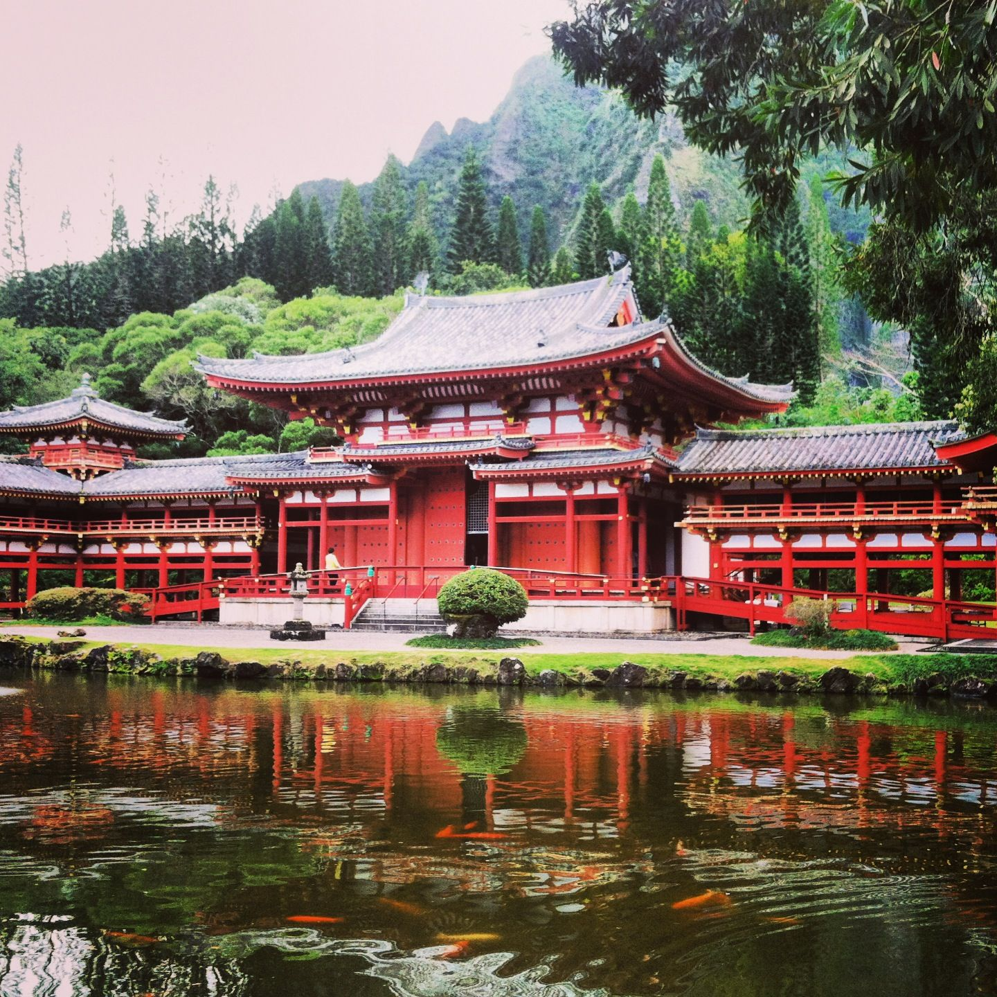 Byodoin Temple Honolulu, Hawaii Actually, it was on the