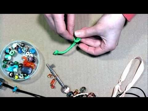 How to make an adjustable knot for Jewelry (quick video!)