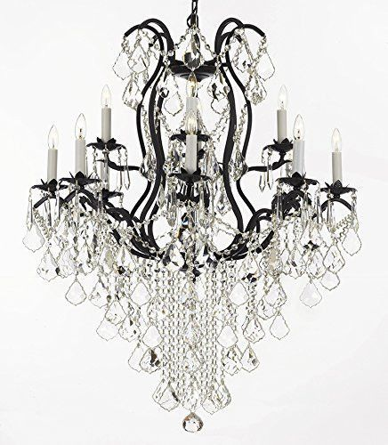 Wrought Iron Empress Crystal Tm Chandelier Lighting H40 X W28