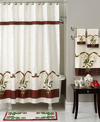 Lenox Bath Accessories Holiday Nouveau Shower Curtain