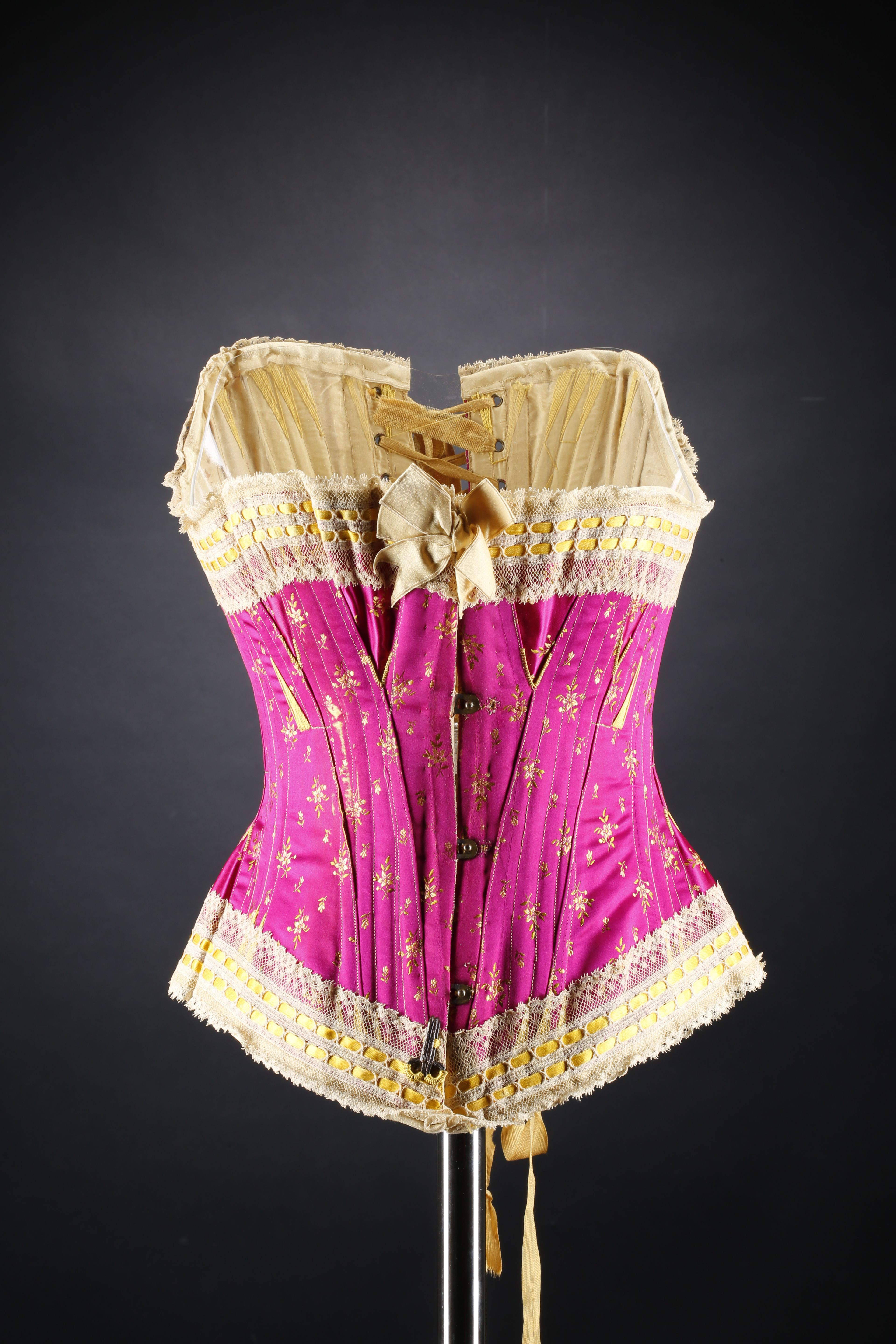 Silk corset, by Sykes, Josephine and Co., c.1890-1900. National ...