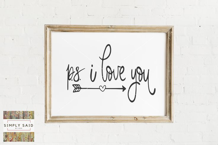 Download PS I Love You SVG | zip file containing svg, jpg, png, dxf ...