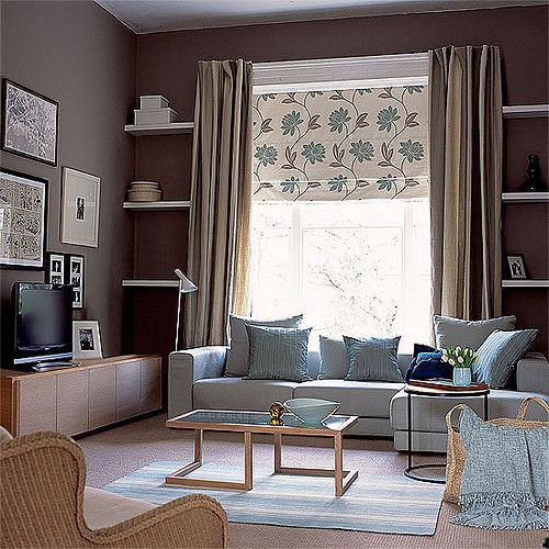 Getting It Right With A Cosy Living Room: Brown And Blue Can Make A Captivating Scene When Used In
