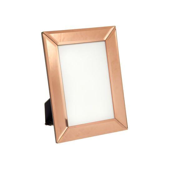 Portafoto In Vetro.Cornice Portafoto In Vetro Color Rame Copper Frame