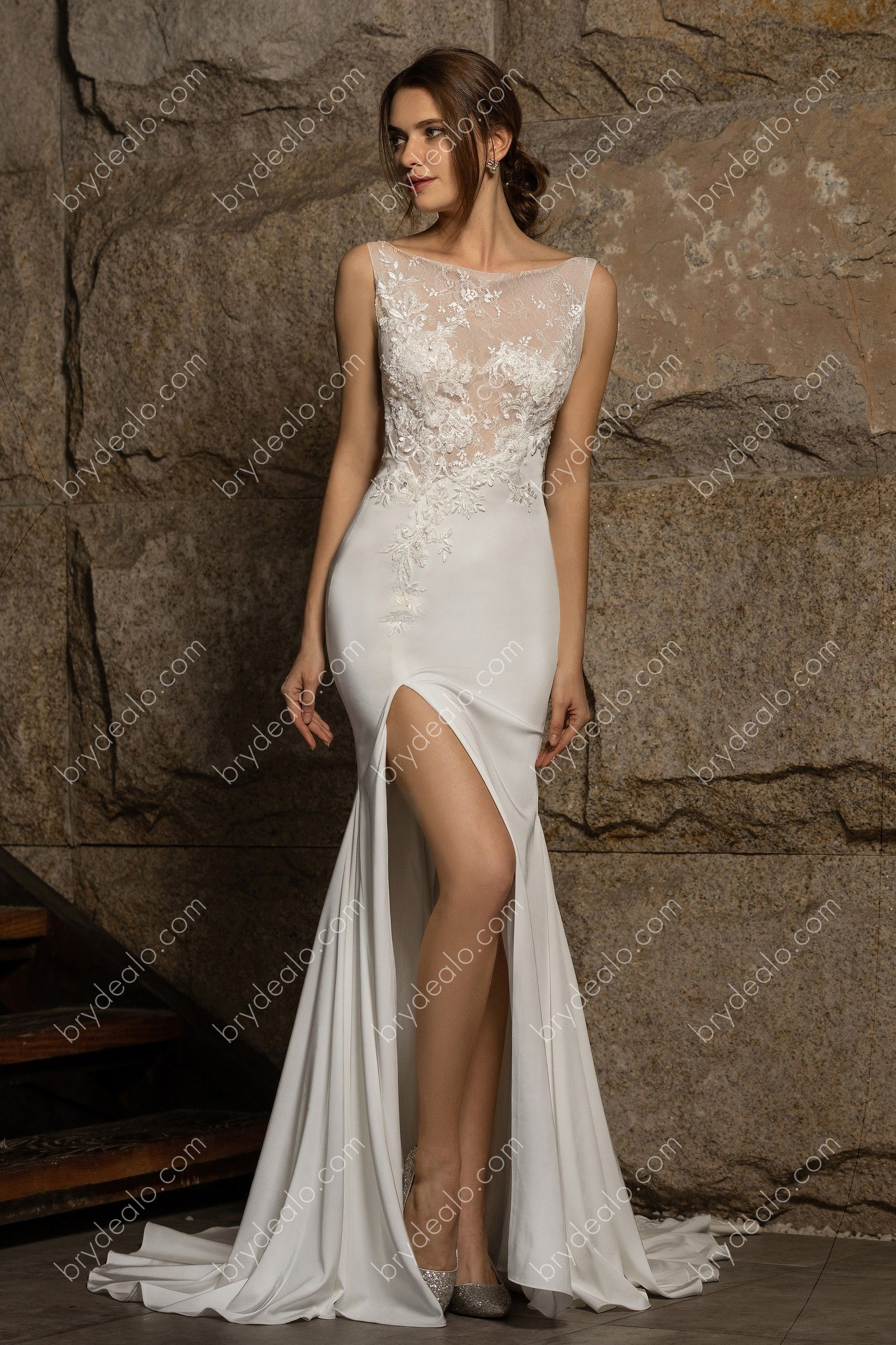 Finest Beaded Appliques Dance From Illusion Bodice Stopping Just Below The Waistline With Asymme Bridal Gowns Mermaid Satin Mermaid Wedding Dress Bridal Gowns [ 2700 x 1800 Pixel ]