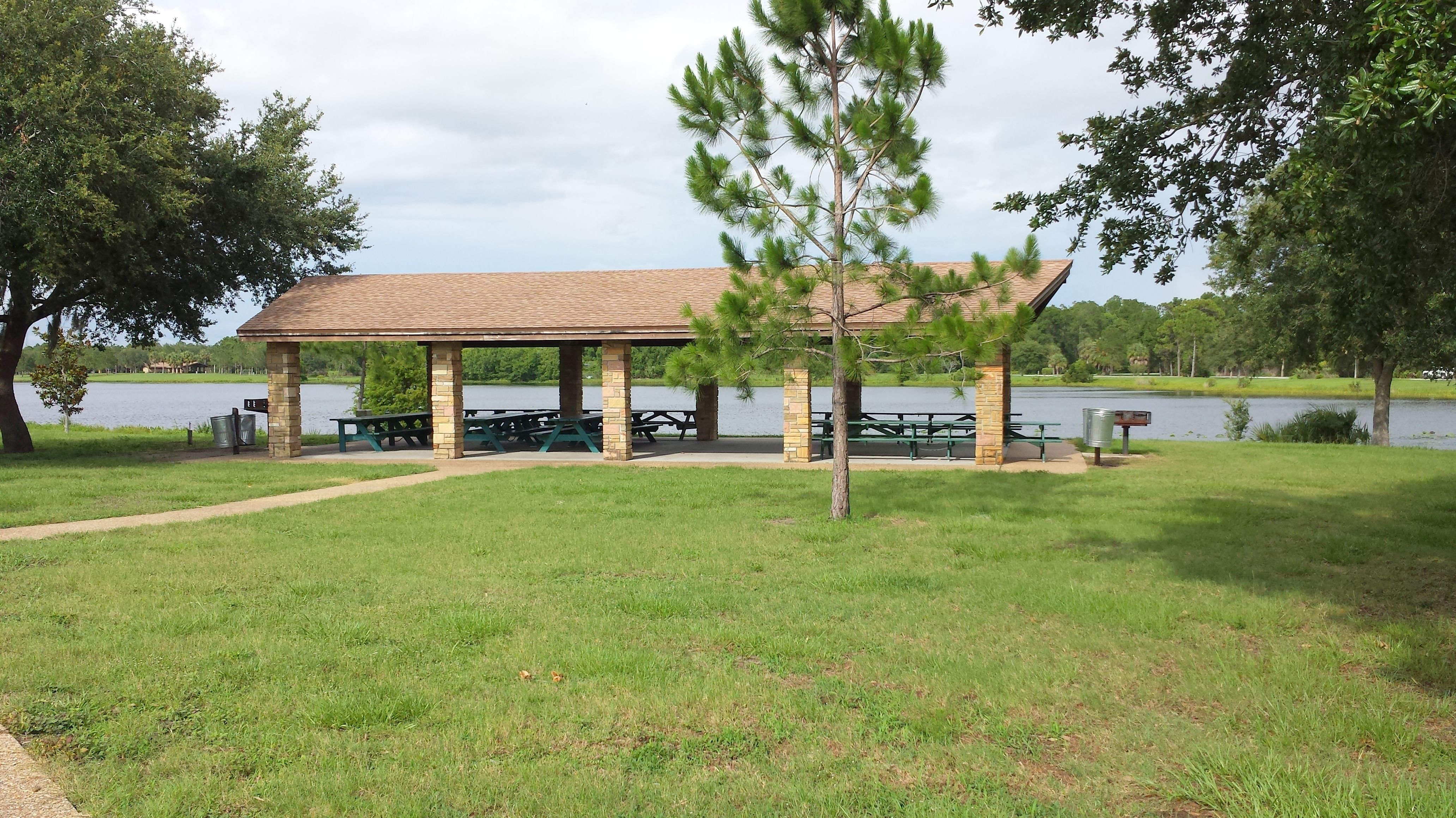 Covered Park Shelters : Picnic shelter on the lake at walsingham park close to