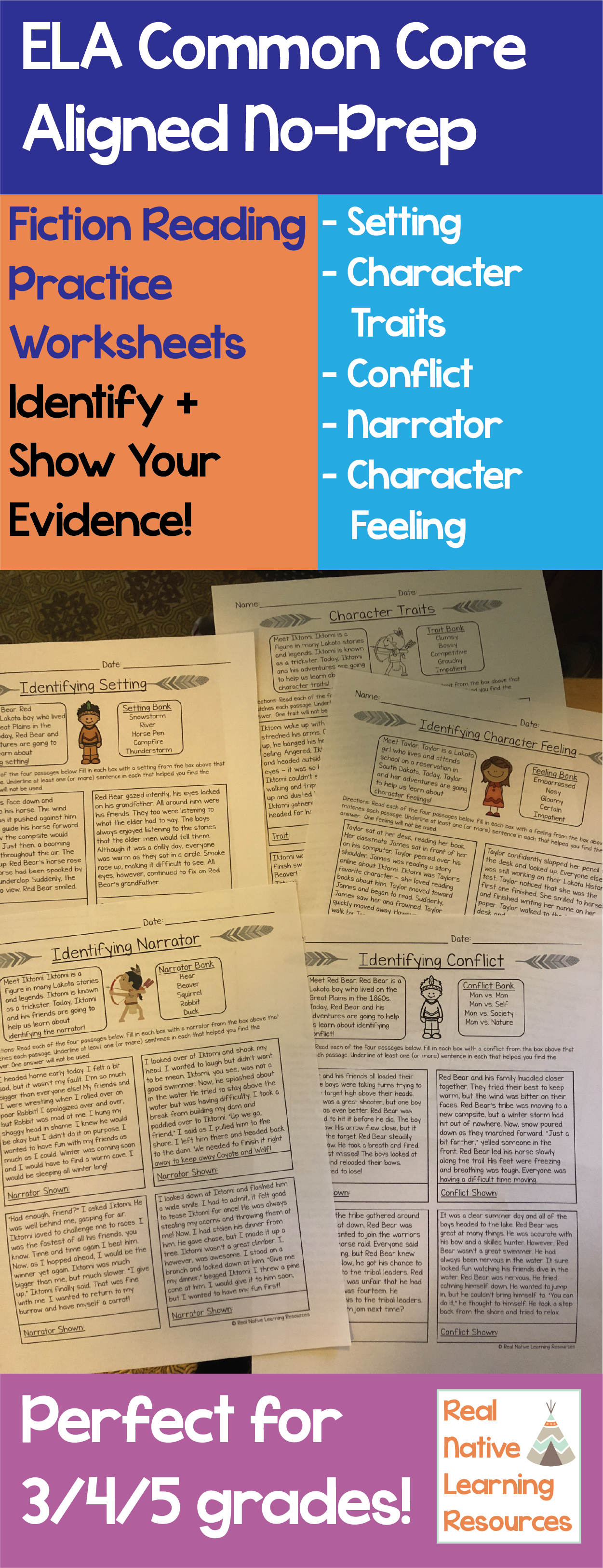 Three Different Worksheets For Each Standard With Four