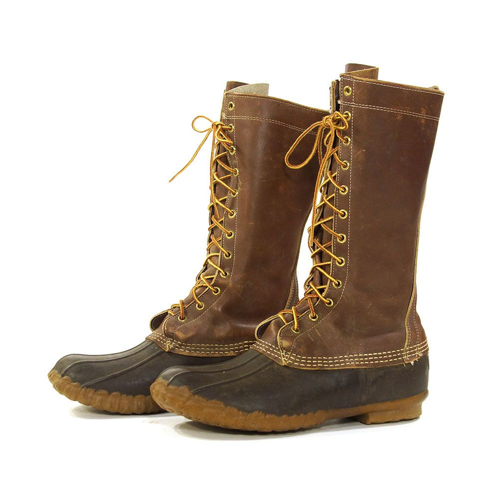a535bf4ae0702 90s L.L. Bean Maine Hunting Boots / Vintage 1990s Waterproof Duck ...