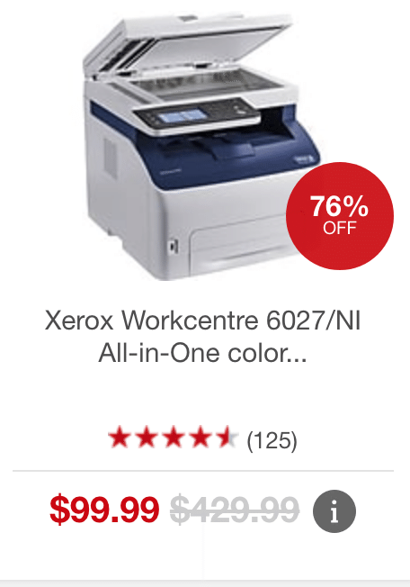 Xerox Workcentre 6027 Ni All In One Color Led Laser Printer At