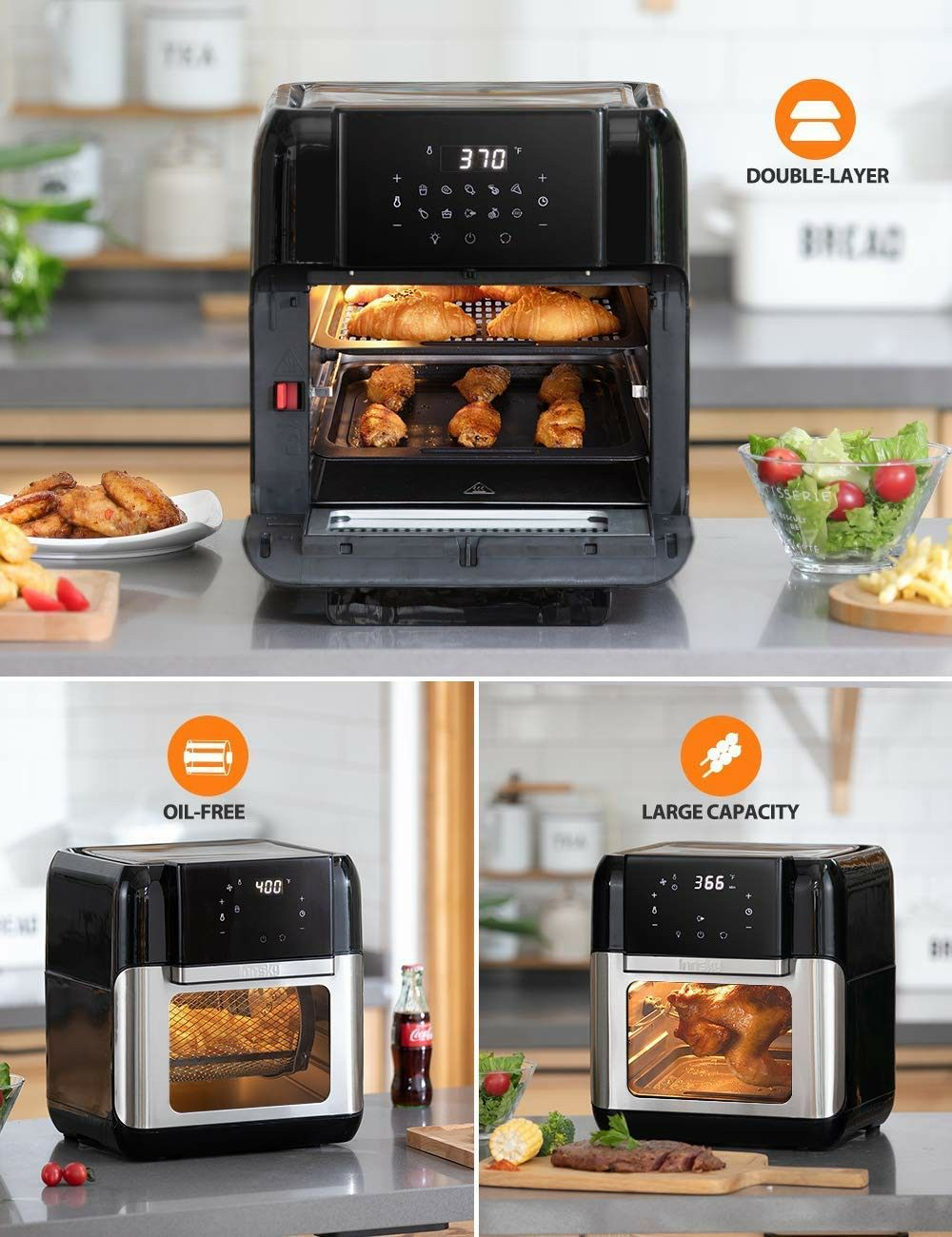 Innsky Air Fryer Oven 10 6qt 1500w Electric Air Fryer With Led