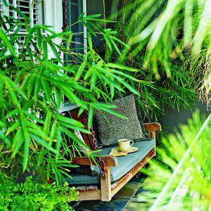 Bambus og udendørs sofa