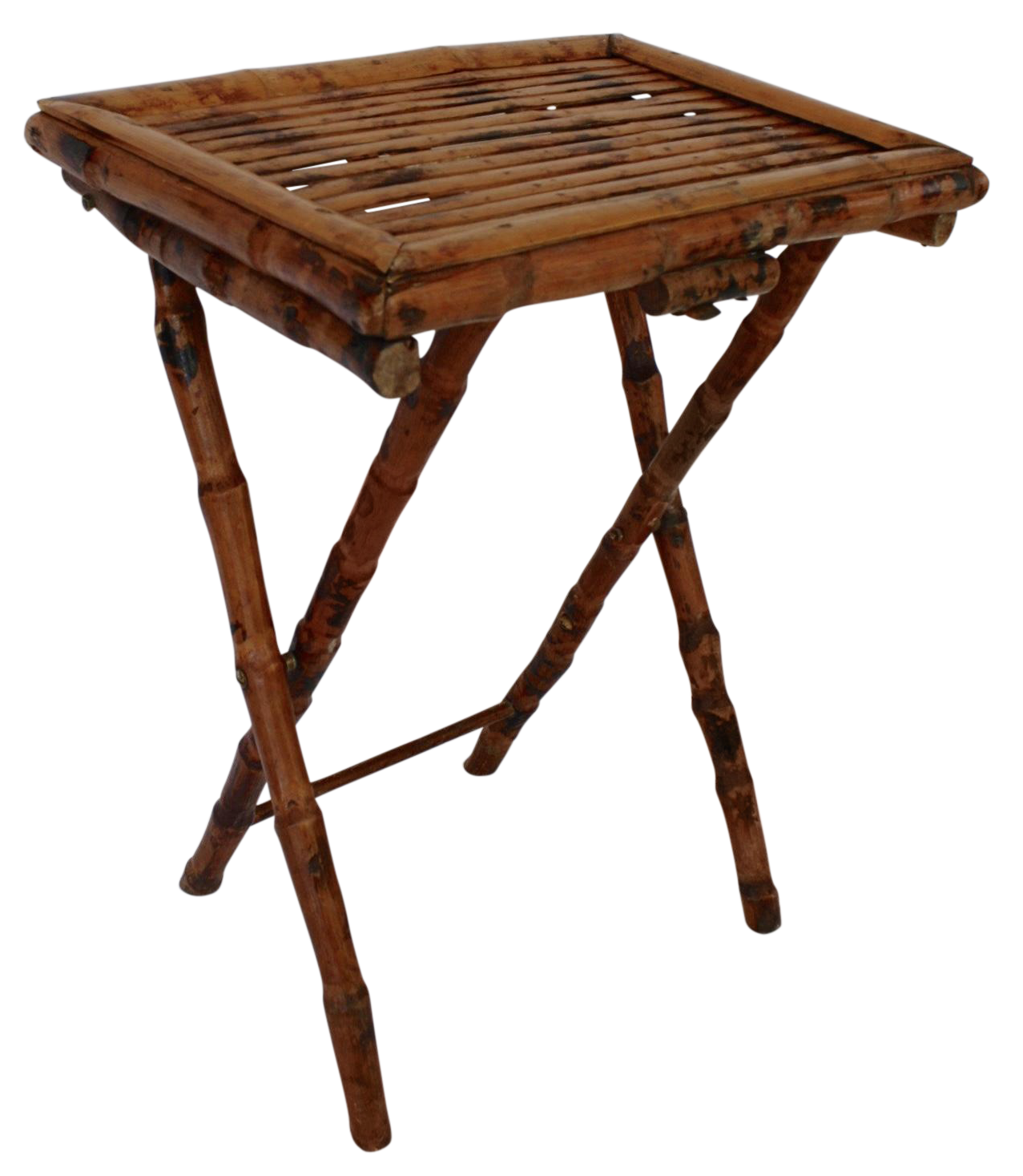 Bamboo Folding Tray Table On Chairish.com