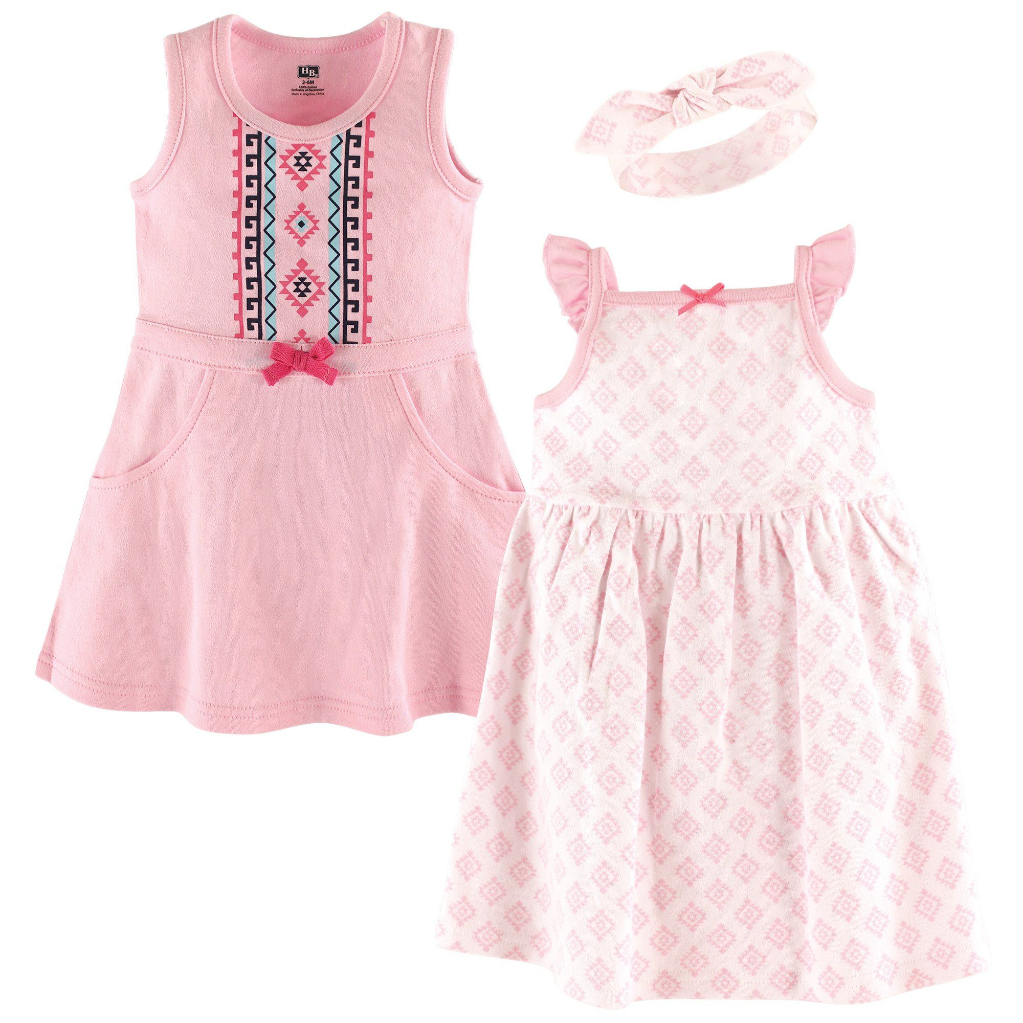 f458ba87b Baby Girl Cotton Dresses - 3 Piece Set   Products   Baby girl ...