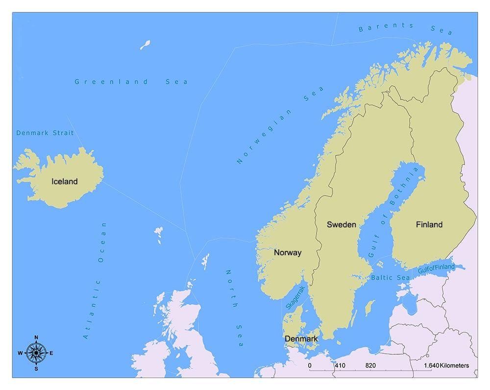 Nordic Countries Nordic Countries Country Maps Nordic