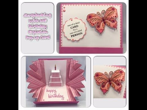 1 Explosion Pop Up Card Youtube Cards With Different Folds