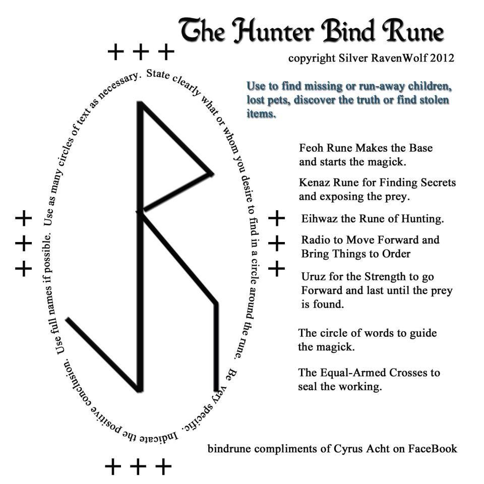 The Hunter Bind Rune White Magic Book of Shadows ☾