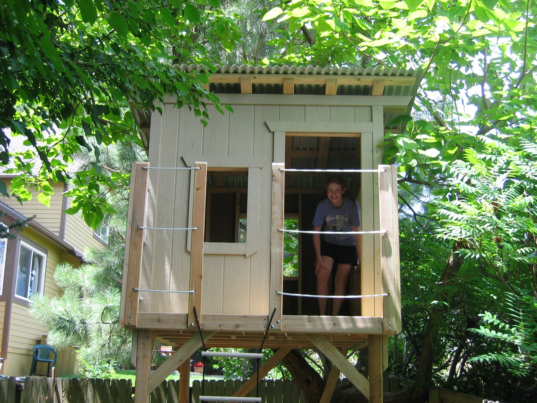 how to make a railing google search tree house