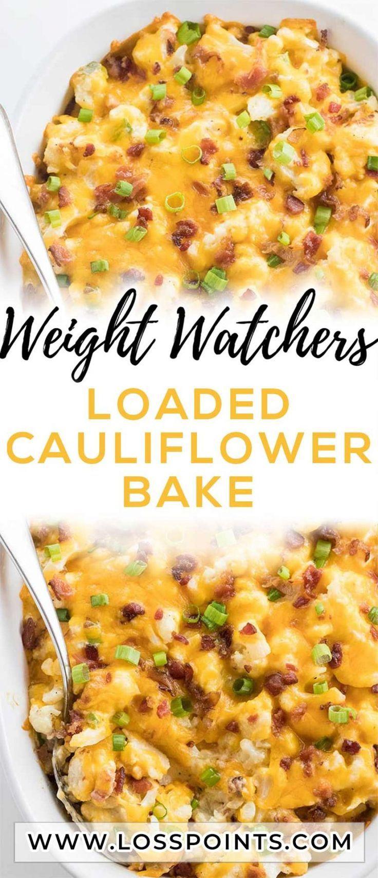 Loaded Cauliflower Bake – 2 SmartPoints - Loss POINTS in 2019 | Baked cauliflower, Loaded cauliflowe #loadedcauliflowerbake