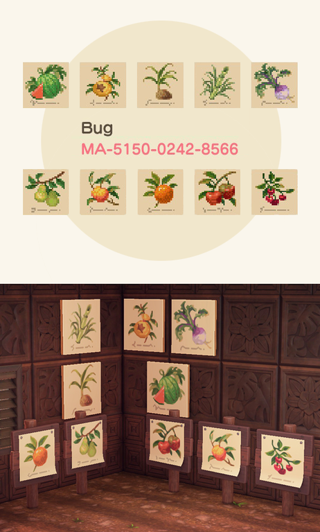 Some More Botanical Illustrations Acqr In 2020 Animal Crossing Animal Crossing Qr Fruit Animals
