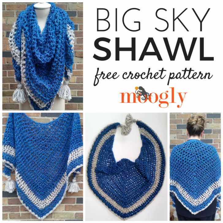 Big Sky Shawl: Free Crochet Comfort/Prayer Shawl Pattern ...