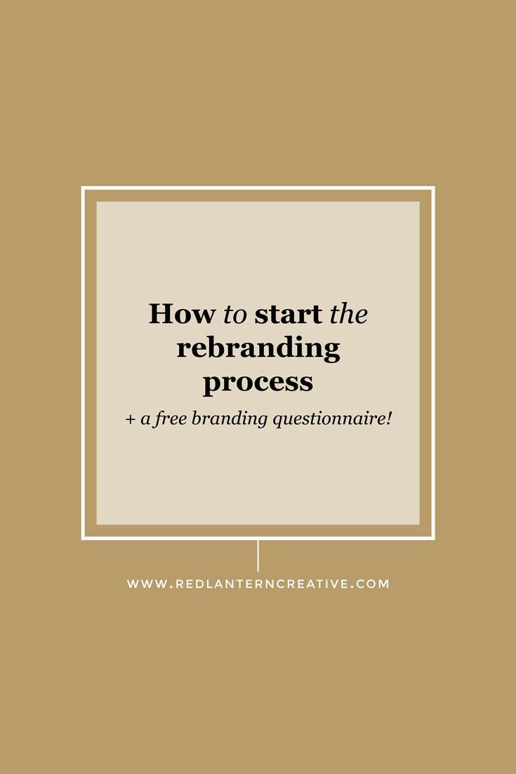 How To Start The Rebranding Process With Images Rebranding Branding Your Business Entrepreneur Branding