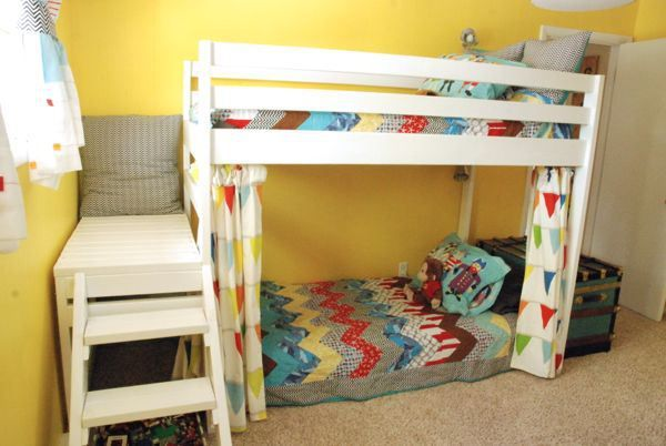 How To Build The Ana White Jr. Loft Bed  DIY Kids Loft Bunk Bed With Stairs  Instead Of A Ladder.