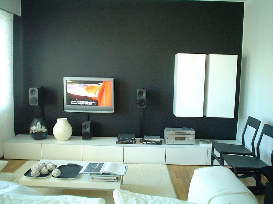 modern living room color. Accent Wall Colors Design Idea For Your Setting : Marvelous Modern Interior Living Room With Simple Black In White L. Color A