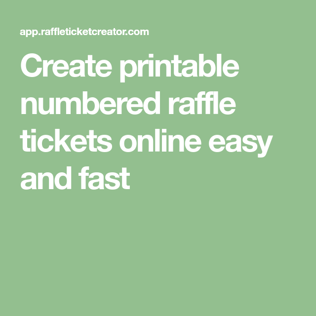 create printable numbered raffle tickets online easy and fast
