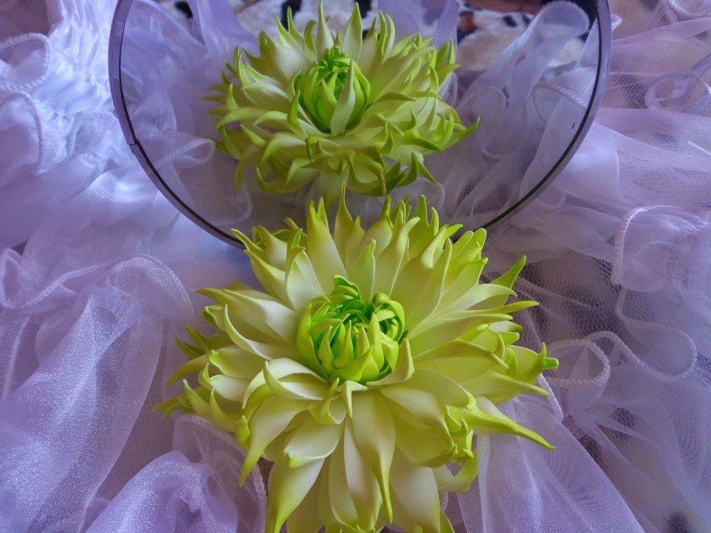 Цветок георгин из фоамирана мастер класс 182