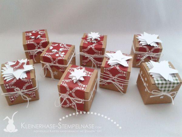 verpackungen weihnachten mini geschenkschachteln. Black Bedroom Furniture Sets. Home Design Ideas