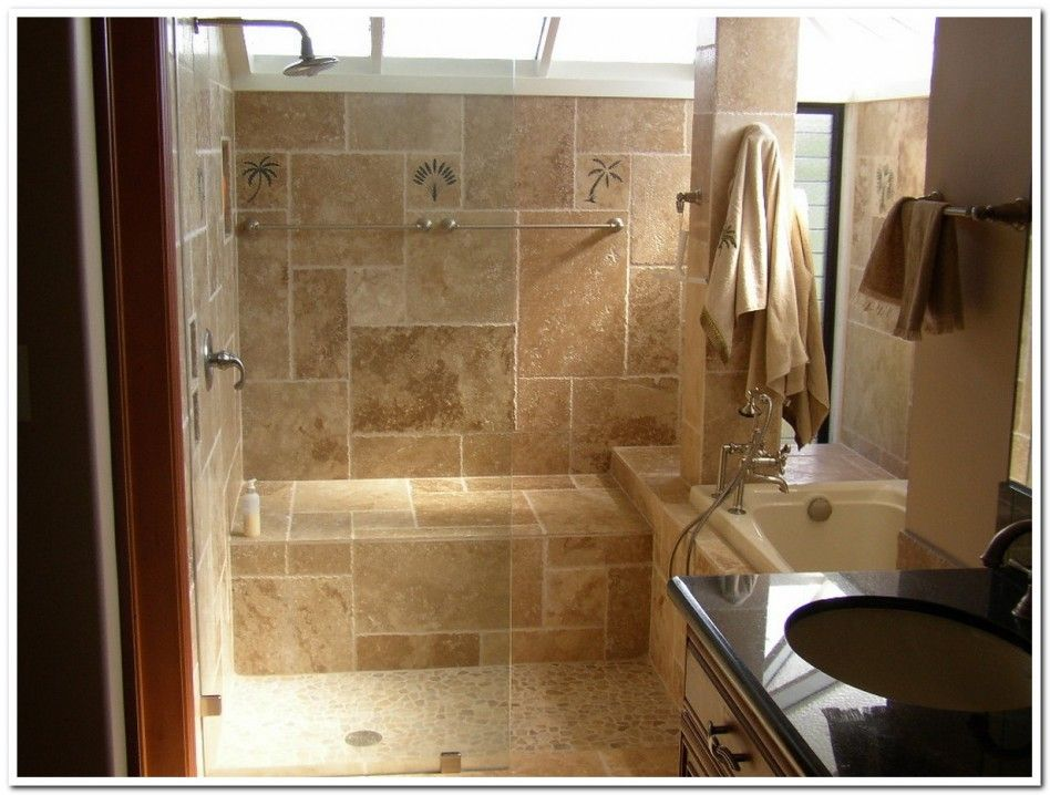 Bathroom Amazing Remodelling Small Bathroom Odeas With Natural Stone For Shower Space And Blac Renovasi Kamar Mandi Kamar Mandi Kecil Kamar Mandi Tradisional