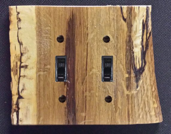 Rustic Oak Log Switch And Outlet Covers Without Bark Requests For